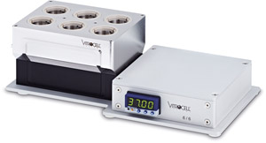 VITROCELL® 6/6 for 6-well sized inserts base module