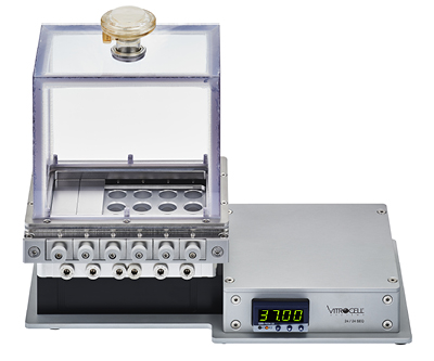 VITROCELL® Cloud SEQ 24 with two insert covers