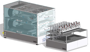 Optional impinger rack for chemical analysis